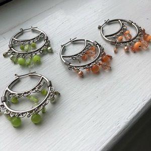 Cute chandelier style earring bundle. 2 pairs.